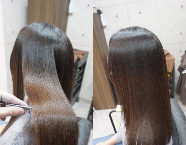 ダメージ毛、猫っ毛におすすめな弱酸性髪質改善(縮毛矯正ストレート)