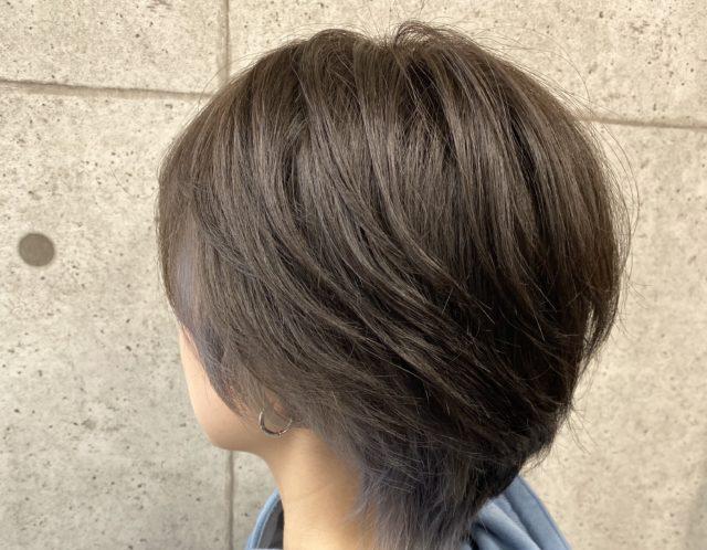 【Bf→Af】ショートヘアのインナーカラーアッシュ